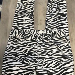 Straight leg zebra print pants Boston Proper